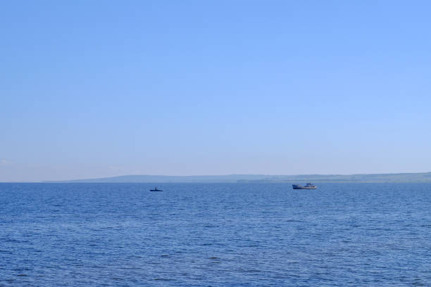 풍경, 바다에서 낚시 두 낚시 보트 스톡 사진