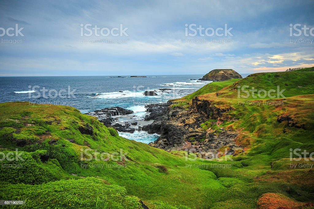 Landscape View for traveller in Melbourne Australia stock photo