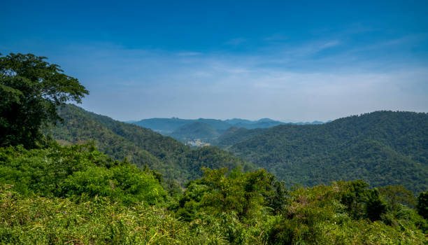 Landscape view from Khao Yai National Park stock photo