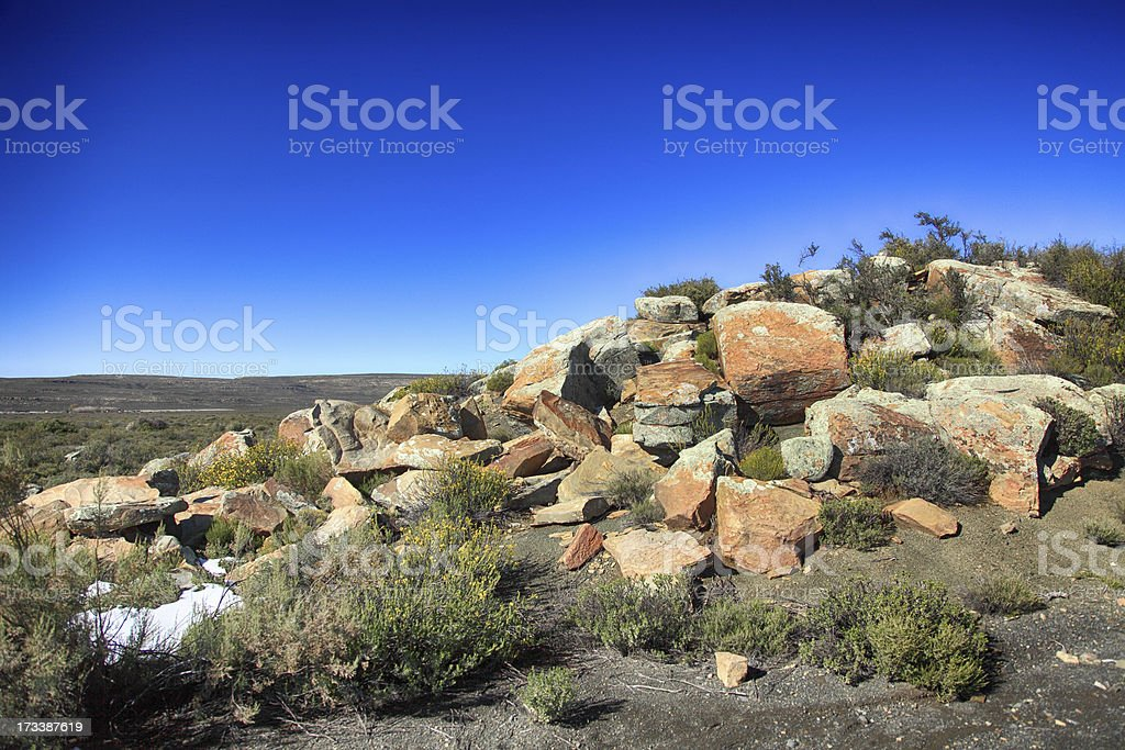 Landscape view from Sutherland across parts of the Northern Cape stock photo
