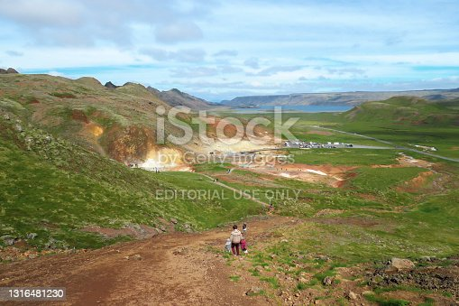 istock Landscape view geothermal area Iceland 1316481230