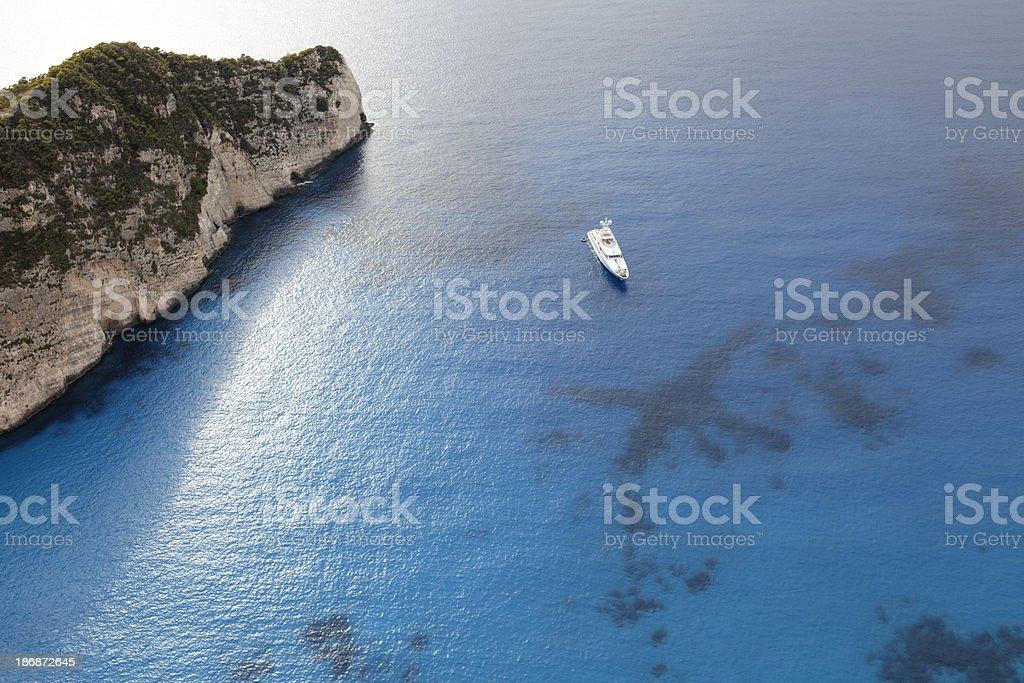 Landscape view in Zakynthos island, Greece stock photo