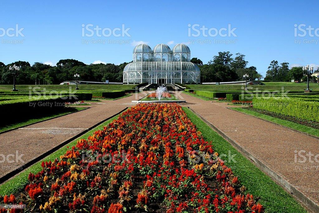 Landscape view of a garden in Curitiba, Brazil stock photo