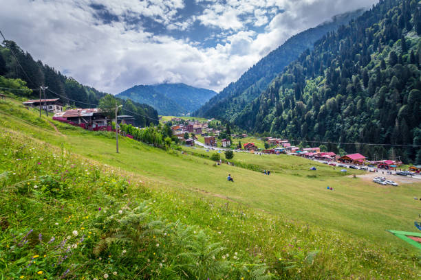 Cтоковое фото Landscape view of Ayder Plateau in Rize,Turkey