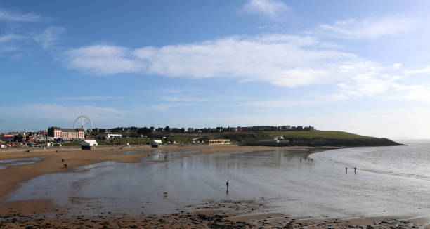 Landscape View of Barry Island, Wales on a Sunny Day stock photo