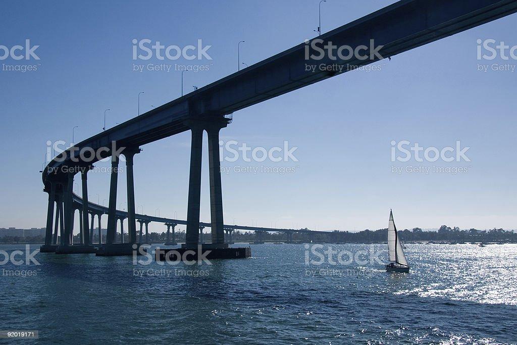 Landscape view of Coronado Bridge in San Diego stock photo