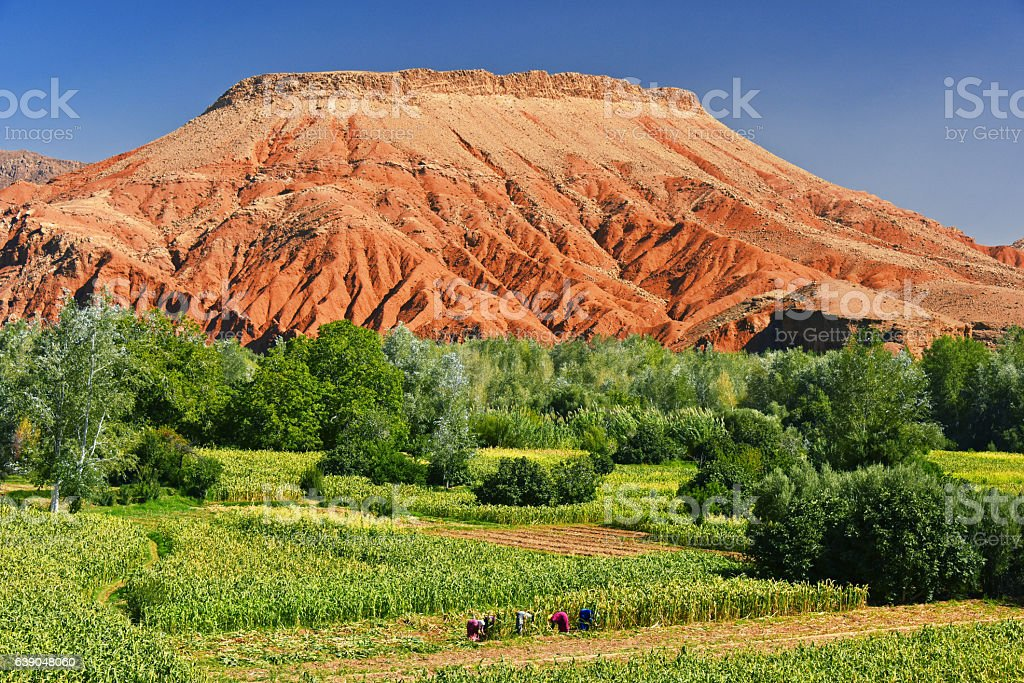 Landscape view of high Atlas Mountains, Morocco stock photo