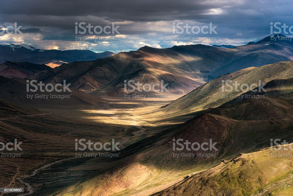 Landscape view of Himalayan range stock photo