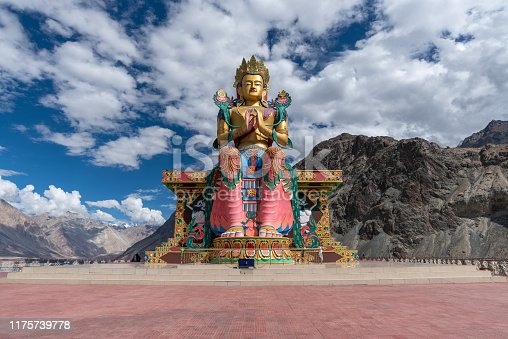 Landscape view of Leh Ladakh city in India, beautiful and famous place with Himalay snow mountain for travel.