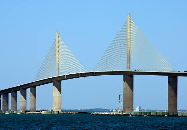 pont sunshine skyway - passerelle pont photos et images de collection
