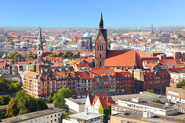 Landscape view of the city of Hanover stock photo