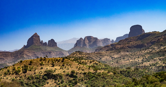 istock Landscape view of the Simien Mountains National Park in Northern Ethiopia 1167645821