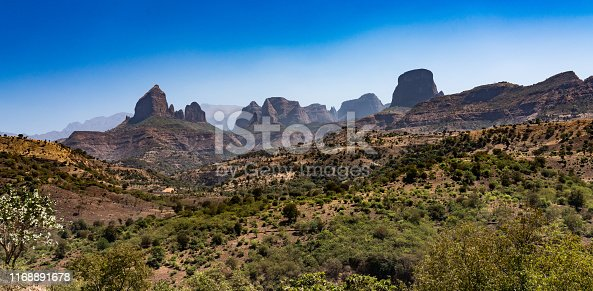 istock Landscape view of the Simien Mountains National Park in Northern Ethiopia 1168891678