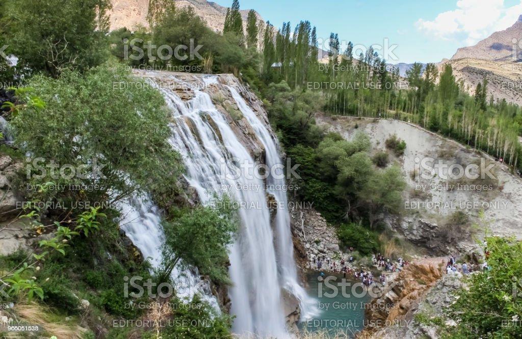 Landschaftsansicht Tortum Wasserfall in Tortum - Lizenzfrei Bach Stock-Foto