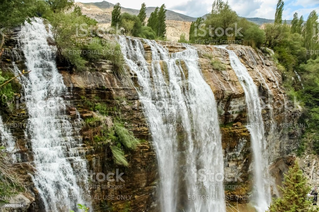 Landscape view of Tortum Waterfall in Tortum - Стоковые фото Без людей роялти-фри