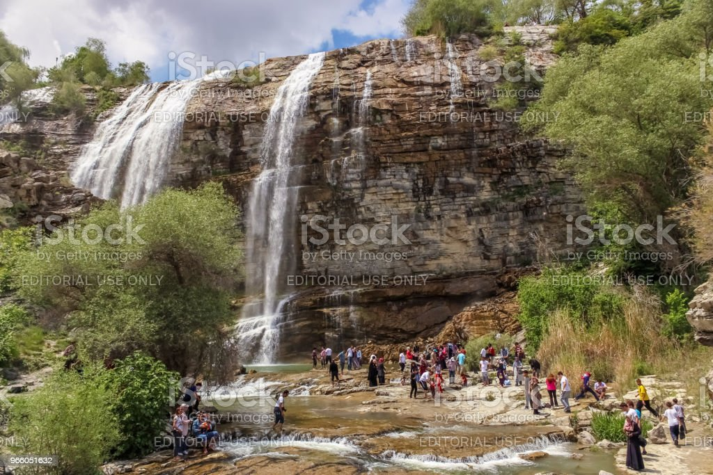 Landscape view of Tortum Waterfall in Tortum - Royalty-free Autumn Stock Photo
