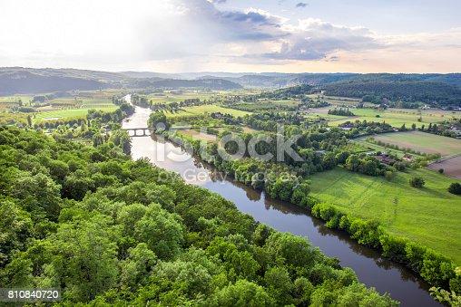 istock Landscape view on Dordogne river in France 810840720
