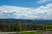 Landscape view to Balkan mountains