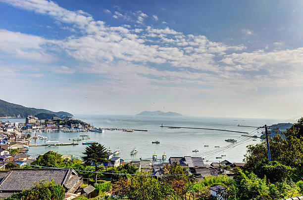 Landscape visible from Ioji Temple stock photo