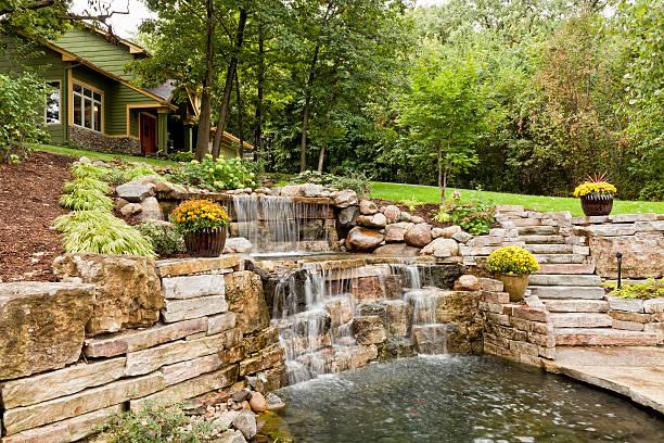 Landscape Waterfall stock photo