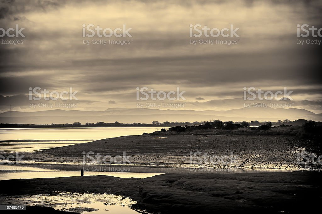 Landscape, Waterfoot, Solway firth, Lakedistrict hills stock photo