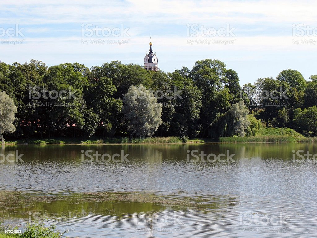 Landscape with a dome royalty-free stock photo
