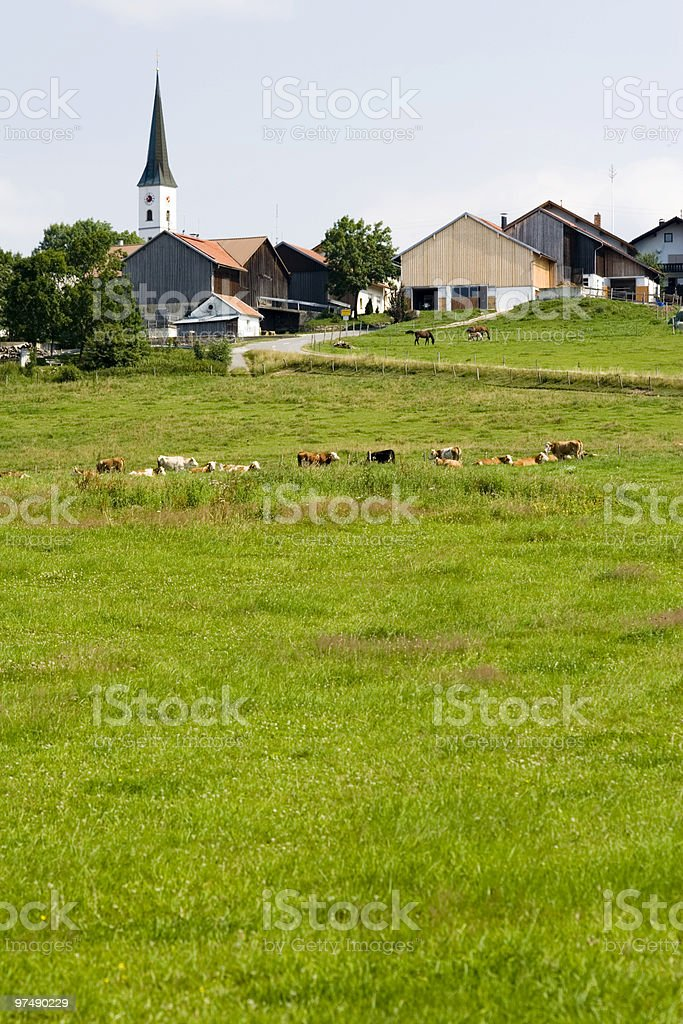 Landscape with a little village royalty-free stock photo