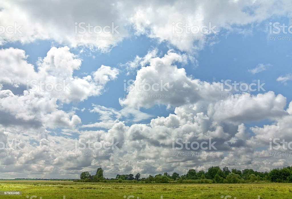 Landscape with blue sky royalty-free stock photo
