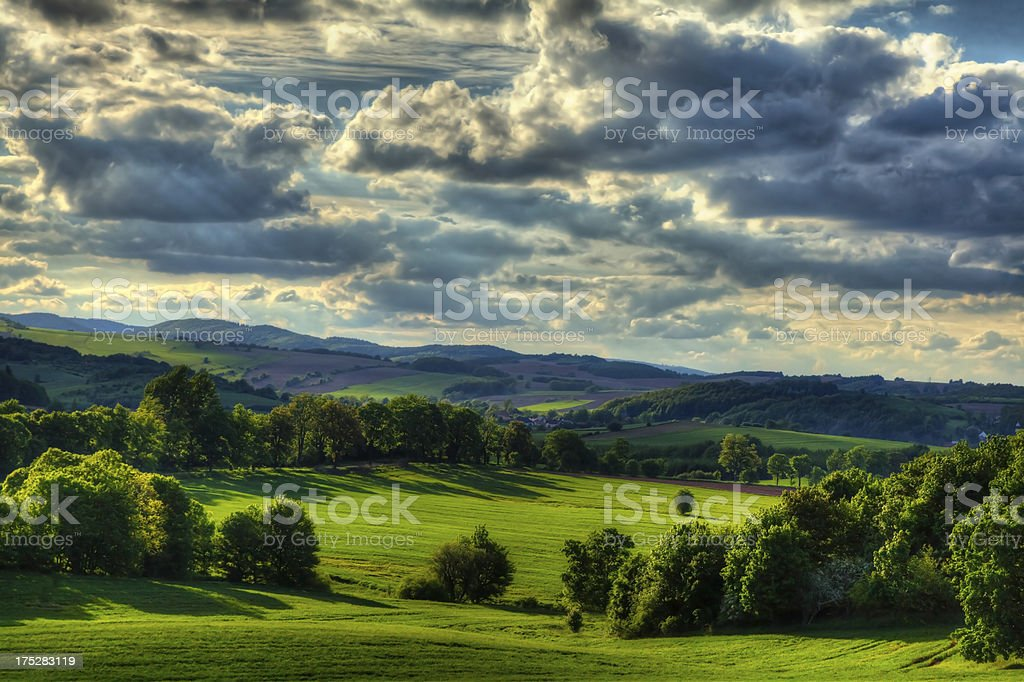 Landscape with cloudes stock photo