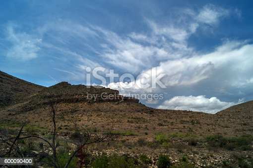 Landscape With Clouds Hills And Foliage New Mexico Stock Photo & More Pictures of Cactus