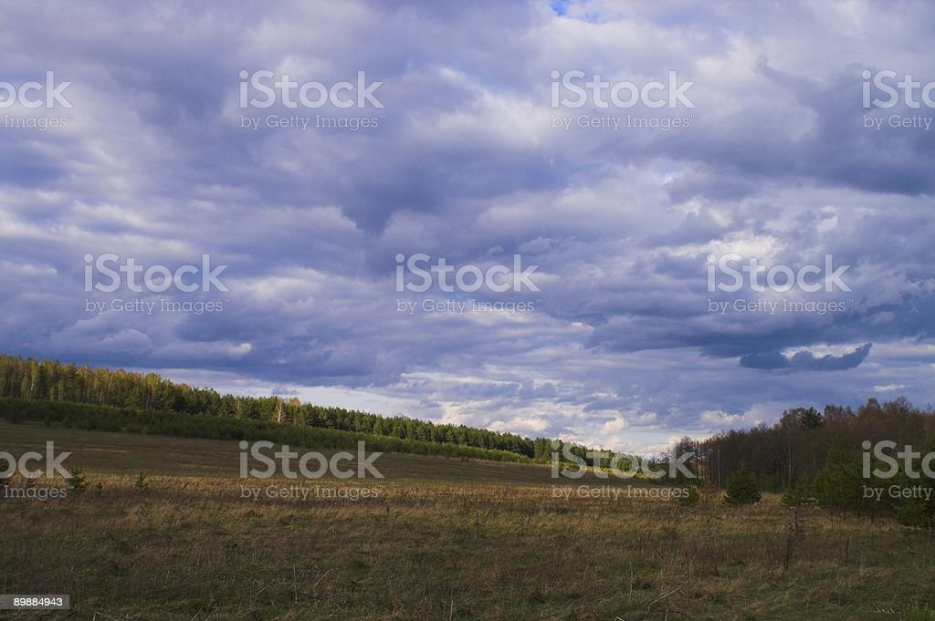 Landscape with clouds royalty-free stock photo