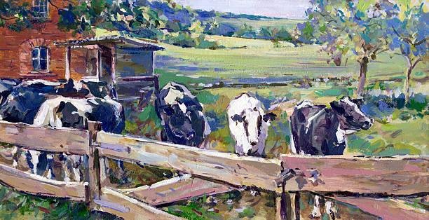 Landschaft mit Kühe in lower saxony – Foto