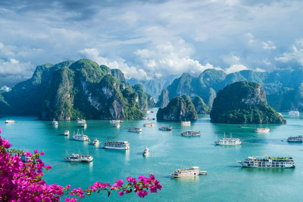 Landscape with Halong bay