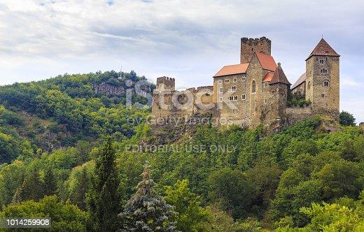 istock Landscape with Hardegg Castle in Lower Austria near Czech Republic border in cloudy day 1014259908