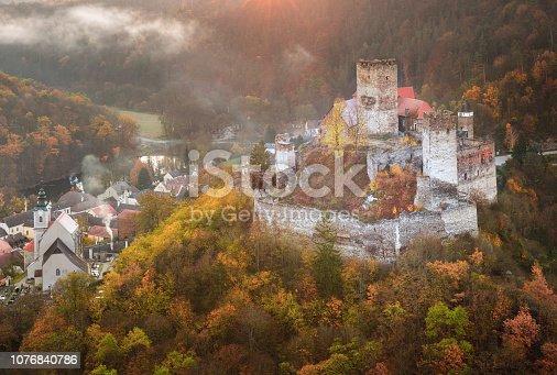 istock Landscape with Hardegg Castle in Lower Austria 1076840786
