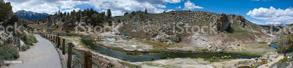 Landscape with hot springs near Mono Lake, California royalty-free stock photo