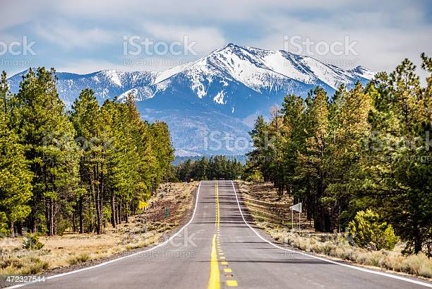 Landscape With Humphreys Peak Tallest In Arizona Stock Photo - Download Image Now
