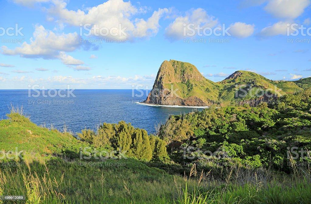 Landscape with Kahakuloa Head stock photo