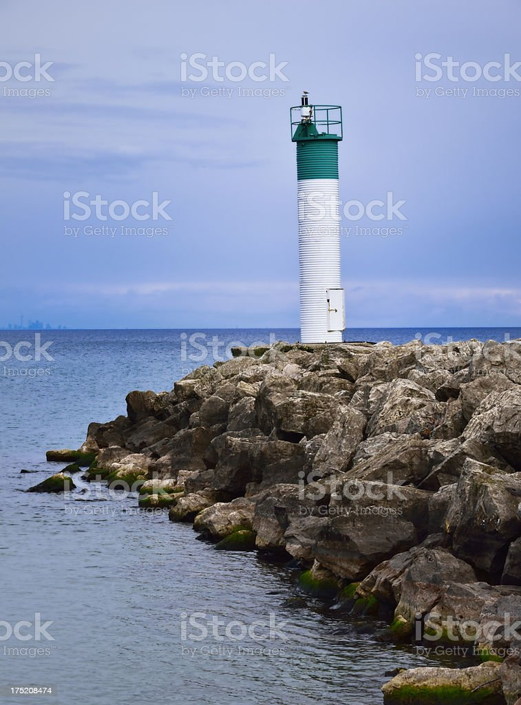 Landscape with Lighthouse, lake Ontario, Canada royalty-free stock photo