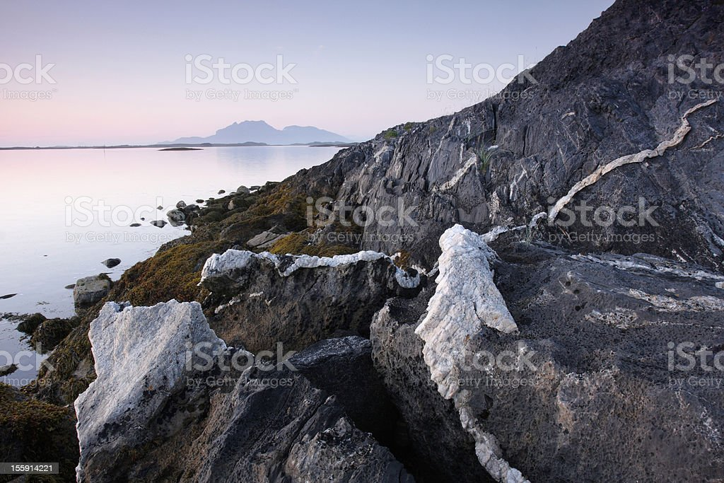 Landscape with marble veins royalty-free stock photo