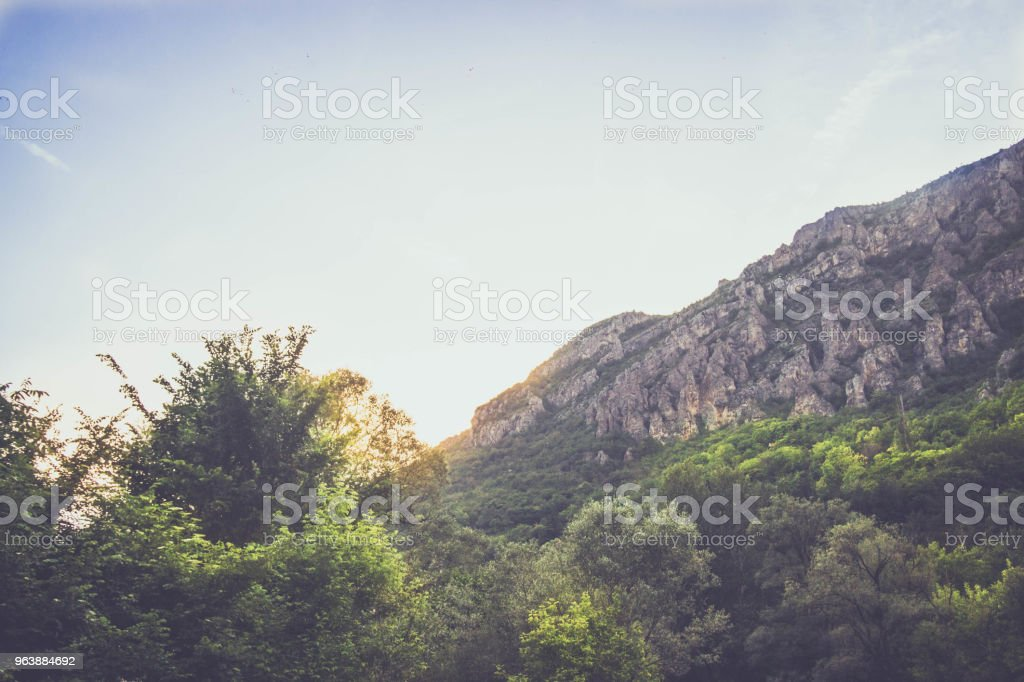landscape with mountain and sky - Royalty-free Adventure Stock Photo