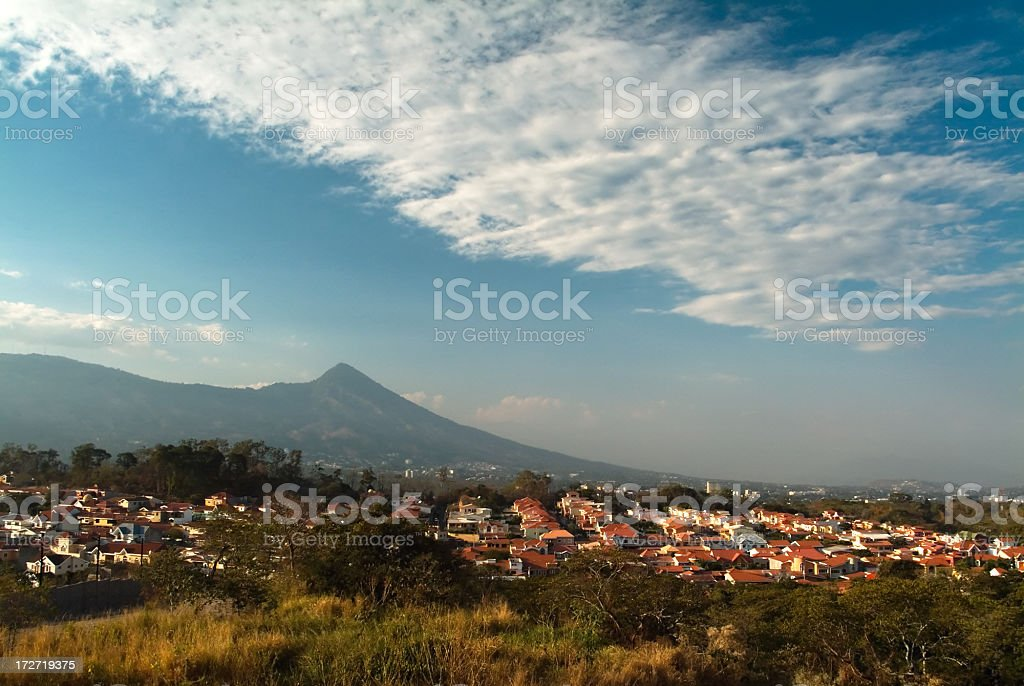 Landscape with mountain in El Salvador, Central America stock photo