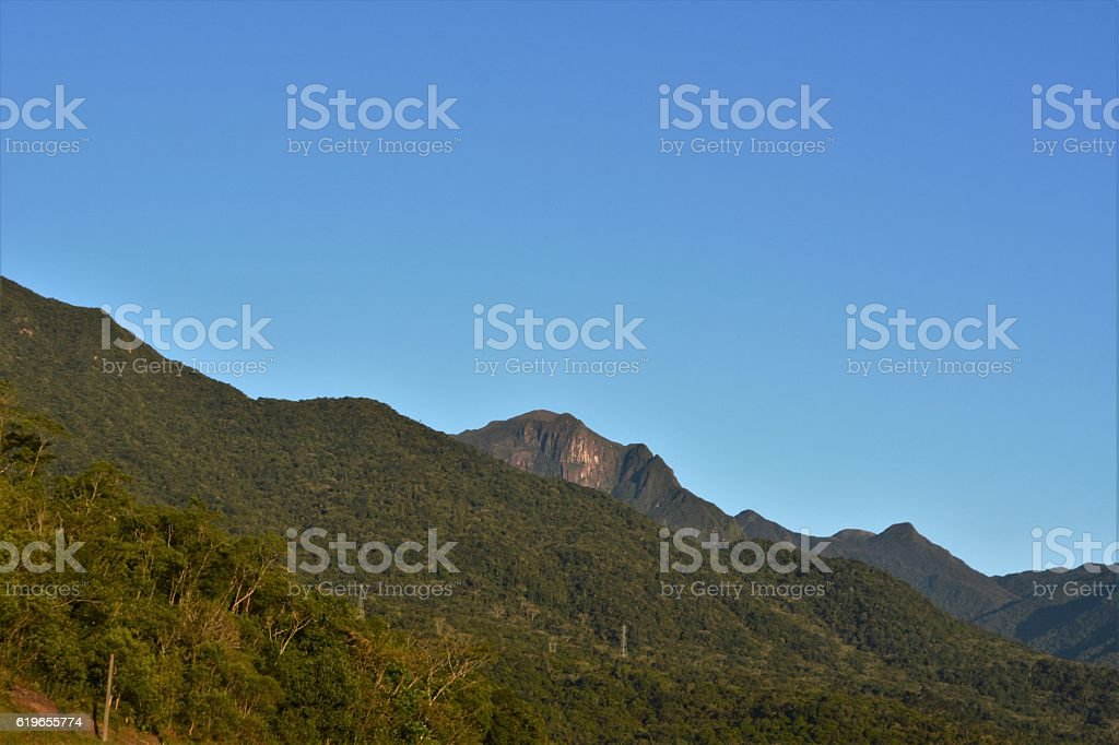 landscape with mountain stock photo