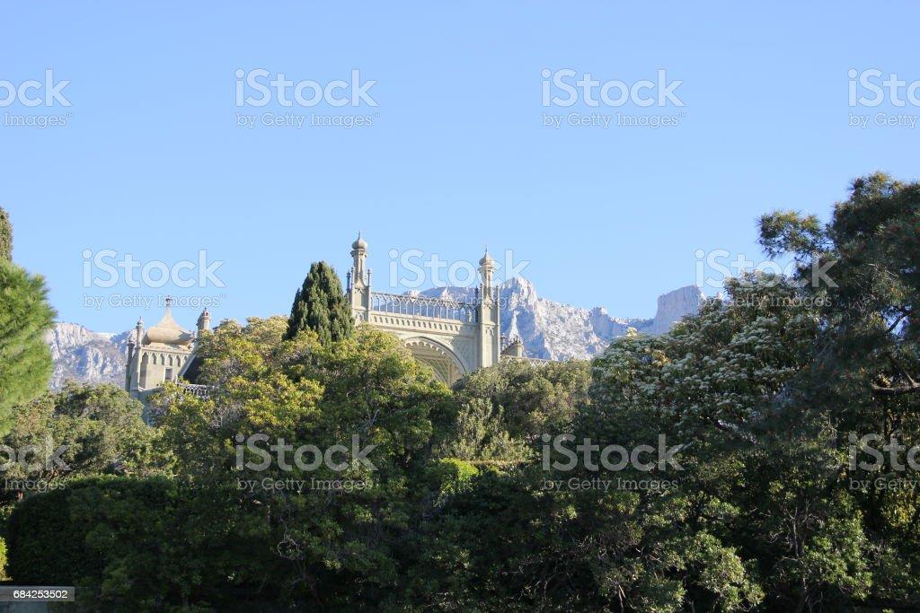 paysage avec vue sur la montagne photo libre de droits