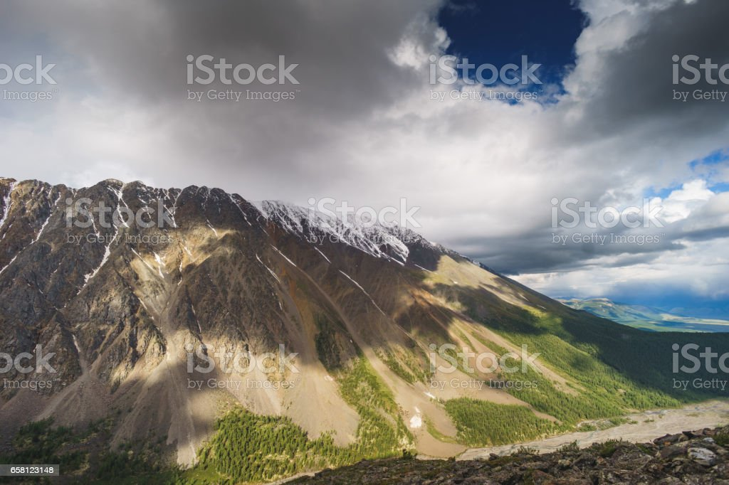 landscape with mountains. Republic Altay royalty-free stock photo