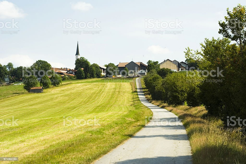 Landscape with path royalty-free stock photo