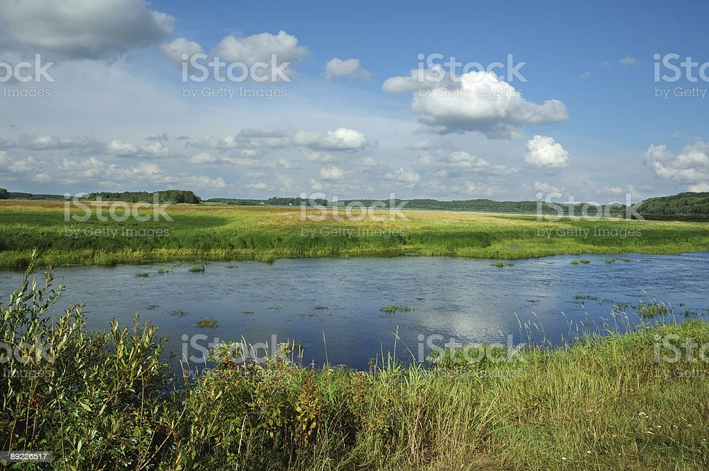 Landscape with reflections royalty-free stock photo
