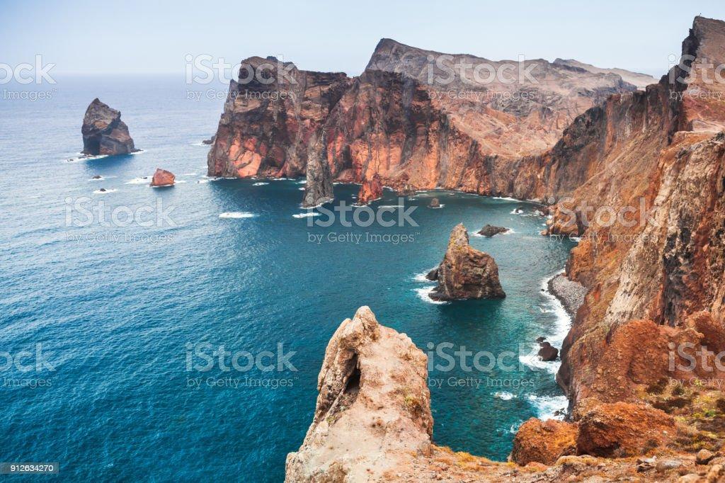 Landschaft mit Felsen der Insel Madeira, Portugal – Foto