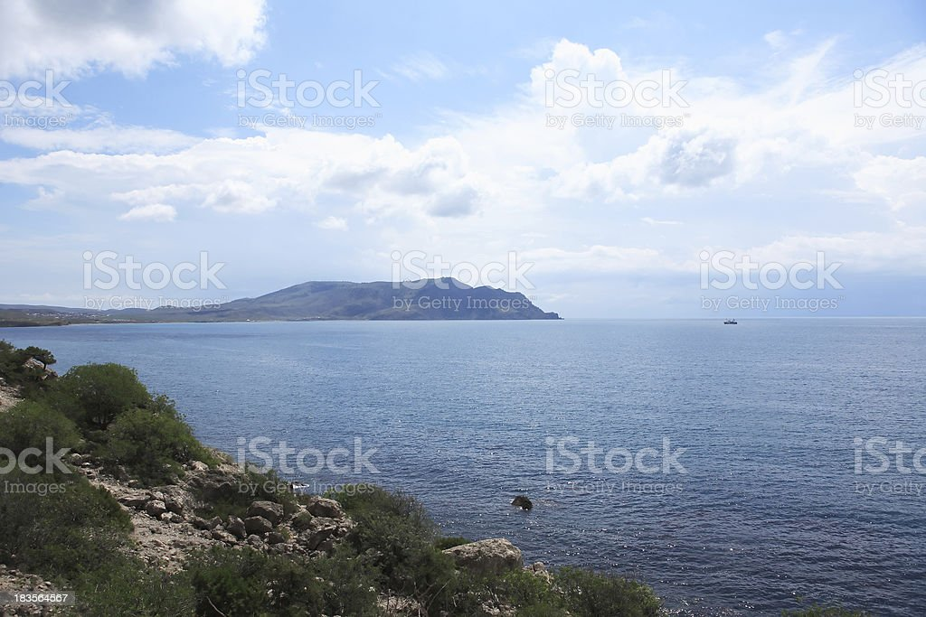 Landscape With Sea royalty-free stock photo