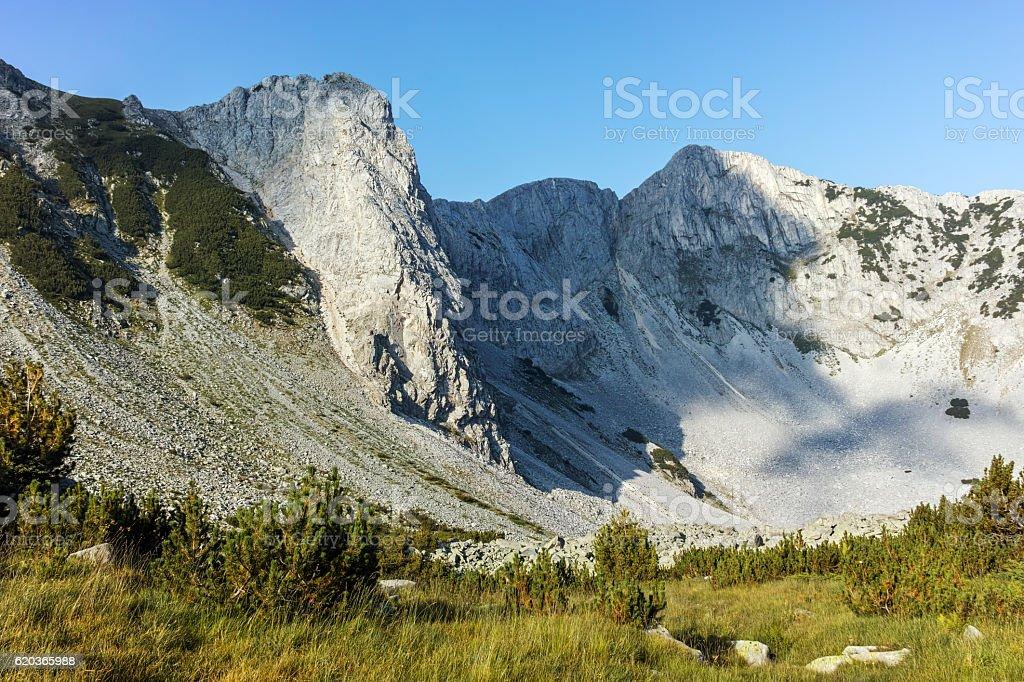 Landscape with Sinanitsa and Momin peaks, Pirin Mountain zbiór zdjęć royalty-free